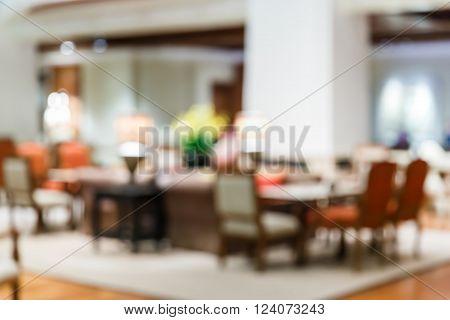 Blur People At Lobby