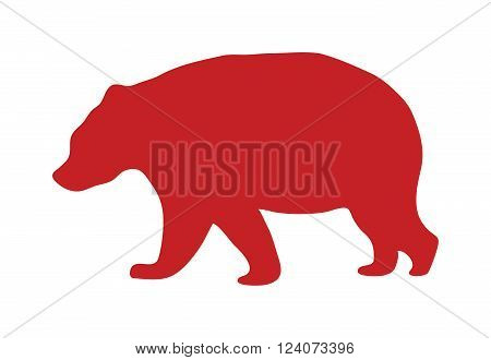 Wild animal powerful hunter bear silhouette and wild animal predator symbol. Predator silhouette. Safari life wild animal silhouette. Alaska bear silhouette wild animal zoo vector.