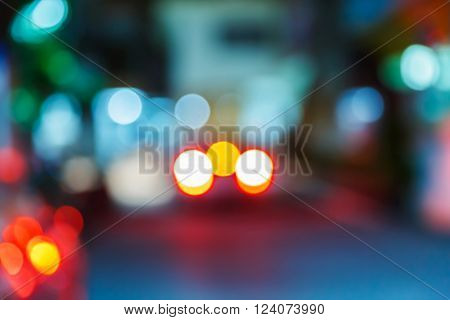 Blurred Car Park At Night