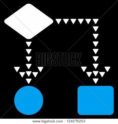 Algorithm Flowchart vector icon. Algorithm Flowchart icon symbol. Algorithm Flowchart icon image. Algorithm Flowchart icon picture. Algorithm Flowchart pictogram.