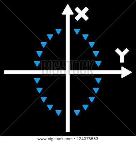 Dotted Ellipse Plot vector icon. Dotted Ellipse Plot pictogram.