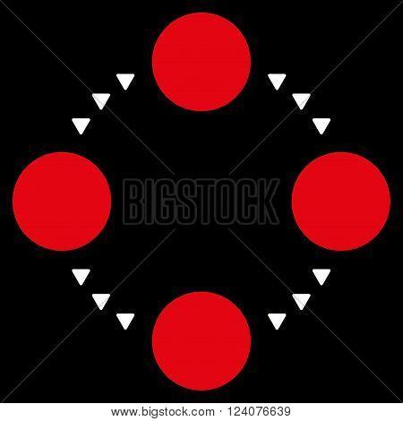 Circular Relations vector icon. Circular Relations icon symbol. Circular Relations icon image. Circular Relations icon picture. Circular Relations pictogram.
