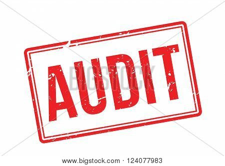 Audit Red Rubber Stamp On White