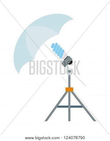 Camera speedlight flash technology digital lamp and camera flash speed electronic equipment. Photo camera flash speed light technology. Camera flash speed photography white equipment vector.