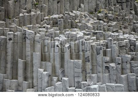 Rock formation at Reynisdrangar, near Vik in the southern part of Iceland