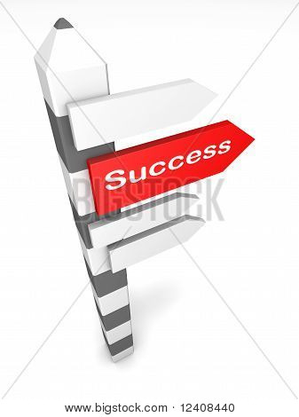 Conceptual Image Of Signpost Isolated