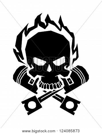 Black skull death skeleton horror and black skull danger scary art. Black skull face anatomy. Black skull graphic dark gothic in helmet wings. Winged black skull mask in helmet wings of fire vector.