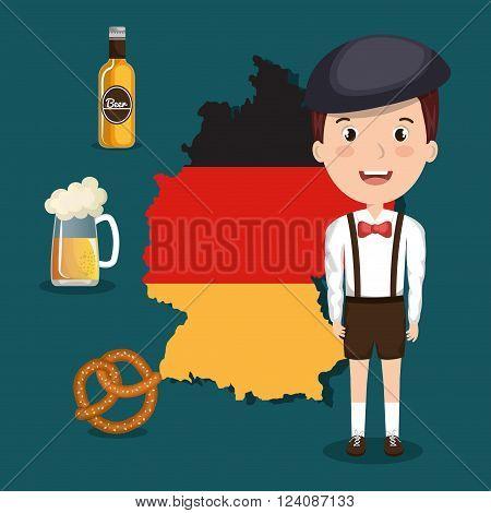 German culture design, vector illustration eps10 graphic