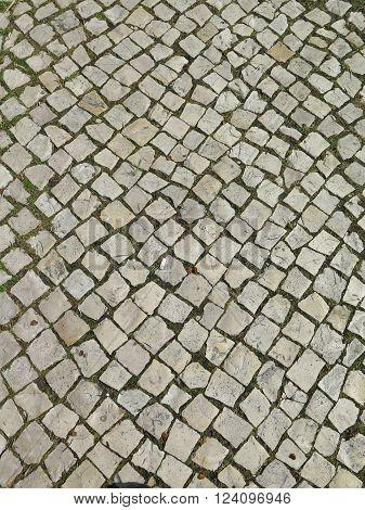 Square Cobblestone Pavement
