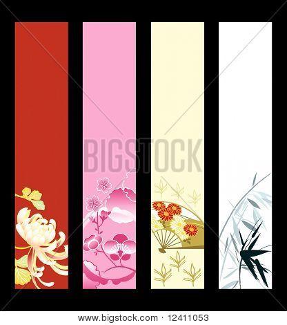 Asian art banner or sider backgrounds.