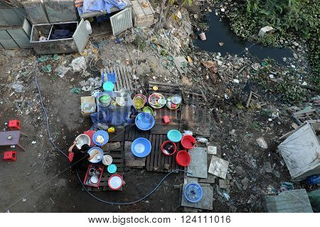 Restaurant, Polluted, Rubbish, Trash, Poisoning, Poor