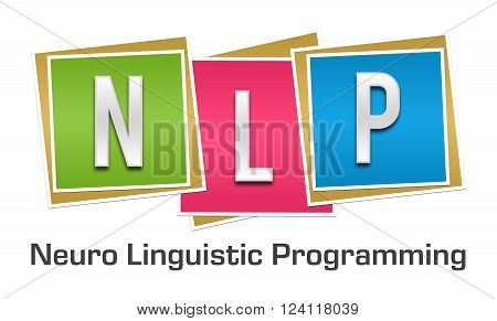 NLP and its full form written over colorful background.