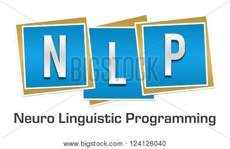 NLP and its full form written over blue background.