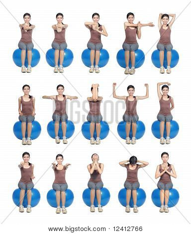 exercise poses shown by young women