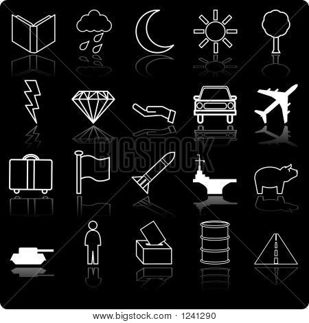 Demographic And Population Icon Series Set