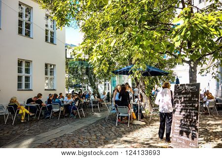 BERLIN - September 18: Typical Street view September 18, 2014 in Berlin, Germany. Berlin is the capital of Germany. With a population of approximately 3.5 million people.BERLIN, GERMANY
