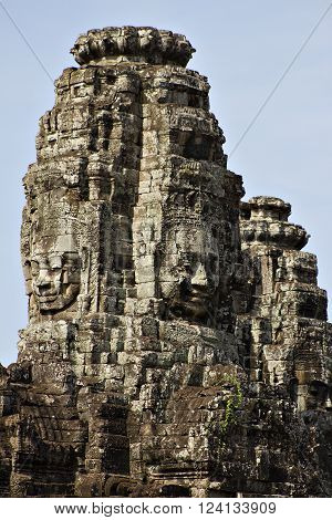 The Bayon Temple in Angkor Thom, a World Heritage Site in Cambodia.