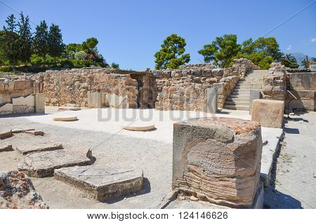 Scenic Minoan palace of Phaistos in Crete (Greece) ** Note: Soft Focus at 100%, best at smaller sizes
