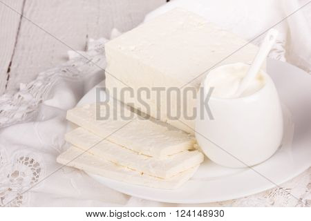 Fresh Sour Cream And  Quark