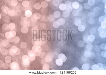 beautiful background with pantone color bokeh blur light  from the christmas night