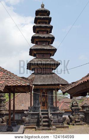 BALI, INDONESIA - OCTOBER 06, 2015: Pura Besakih, one of the sights of Bali on October 06, 2015 in Bali, Indonesia