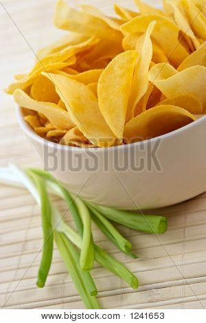 Snack From Crackling Potato Chips