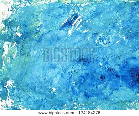 Abstract Watercolor Colorful Texture Art Background. Monotype effect of paint and paper. Paint texture background. Splatter Paint Splash background textures. Made by gouache and watercolor paint.