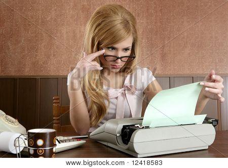 Businesswoman Retro Secretary Office Vintage