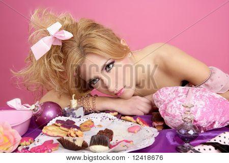 End Party Pink Princess  Fashion Woman Tired