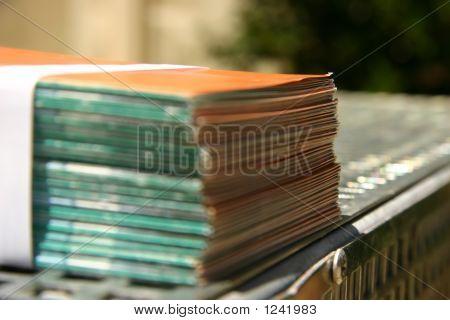Bound Leaflets At A Printer