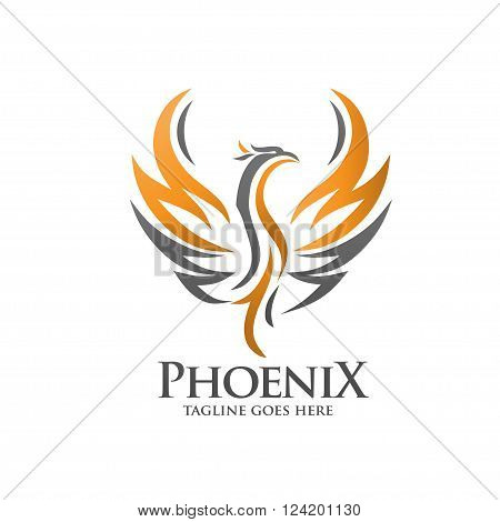 luxury phoenix consulting element logo icon concept