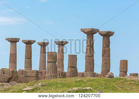 Doric temple of Athena Assos Canakkale Province Turkey