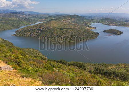 Dam lake valley of Ketios river Pergamon Bergama Izmir Province Turkey