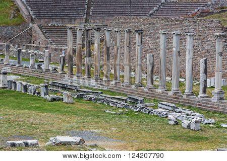 Sanctuary of Asclepius Pergamon Bergama Izmir Province Turkey