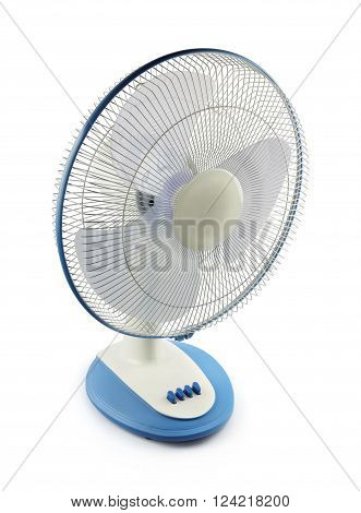 Indian Made Electric Fan Isolated on White Background