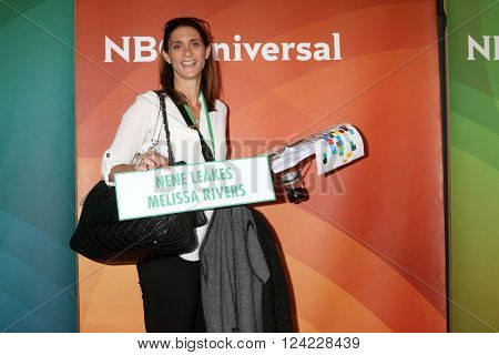 LOS ANGELES - APR 1:  Kira Wagner - Publicist with tools of her trade at the NBC Universal Summer Press Day 2016 at the Four Seasons Hotel on April 1, 2016 in Westlake Village, CA