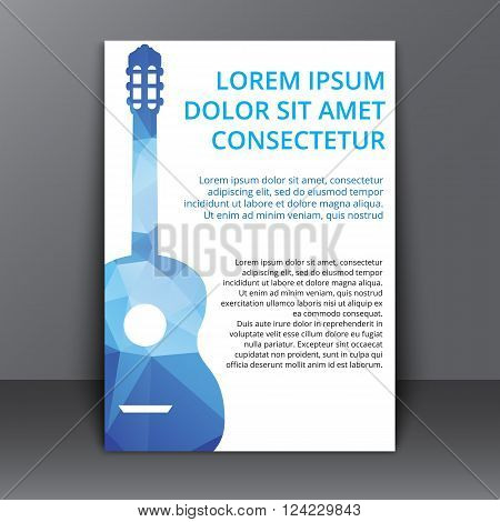 Flyer With Polygonal Guitar