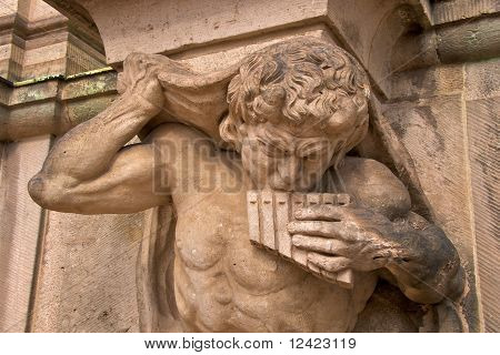 Satyr with panflute, Zwinger Palace