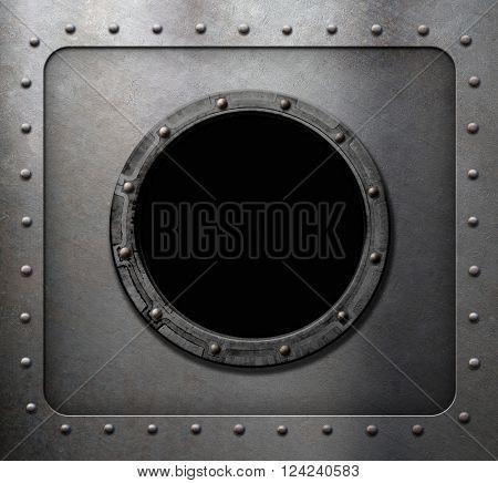 metal submarine or ship porthole window