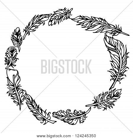 hand drawn vector stock illustration. isolated on white