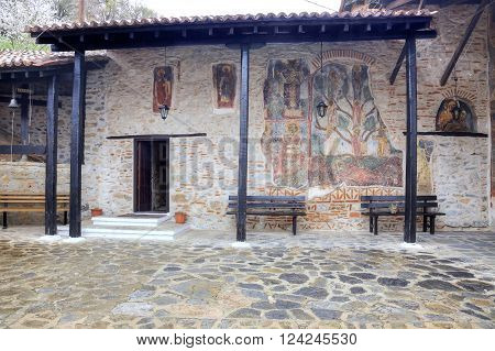 Church of the XVI century of Our Lady Mavritosy. Ancient frescos