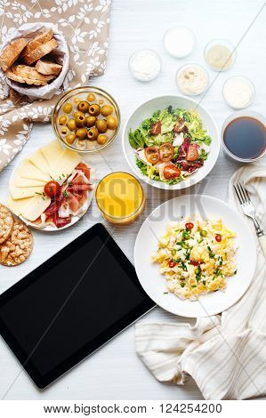 Different Food. Tablet Template.