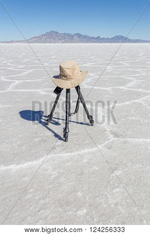 Tripod On The Salt Flats