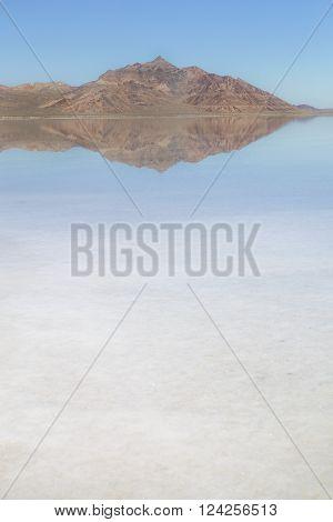 The famous Bonneville Salt Flats, in Utah