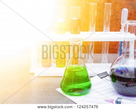 Group of laboratory of science for education.
