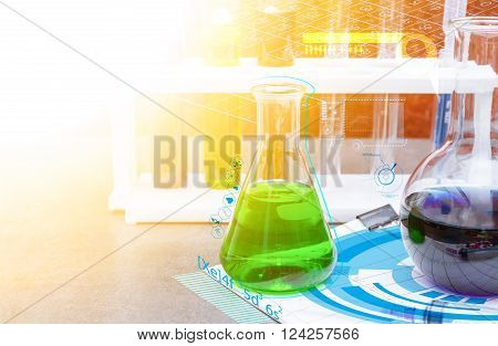 Group of laboratory for science concept .