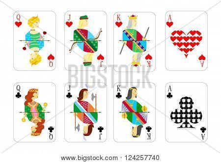 beautiful and original set of designer playing cards.