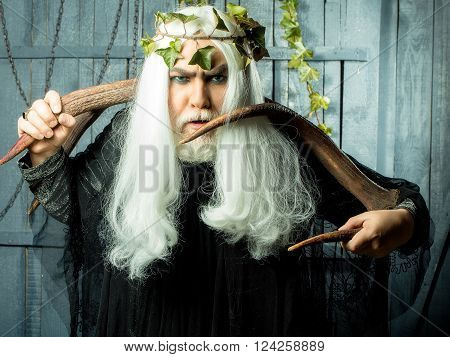Wizard Man With Horns