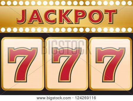 Lucky seven jackpot. 10 eps vector illustration