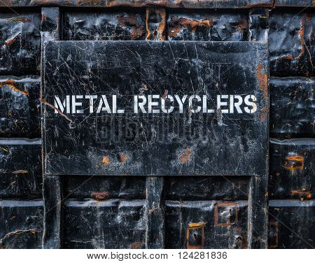 Environmental Image Of A In Industrial Metal Recycling Skip Or Dumpster